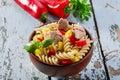 Pasta salad with tuna Royalty Free Stock Photo