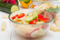 Pasta Salad With Vegetables Stock Photo