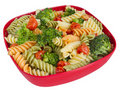 Pasta salad and veggies Royalty Free Stock Photo