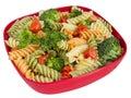 Pasta salad and veggies Royalty Free Stock Photo