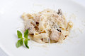 Pasta  with salmon Royalty Free Stock Images
