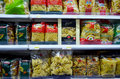 Pasta selection of for sale in a supermarket Royalty Free Stock Photos