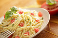 Pasta shot with ingredients Royalty Free Stock Photography