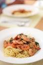 Pasta with Shrimp Royalty Free Stock Photo