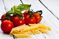Pasta with tomato Royalty Free Stock Photography