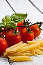 Pasta with tomato Royalty Free Stock Images