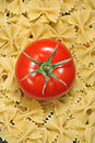 Pasta and tomato Stock Photos