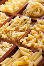 Pasta varieties Stock Photography