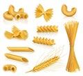 Pasta vector icons Royalty Free Stock Photo