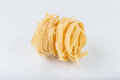 Pasta on a white background close-up macro isolated Royalty Free Stock Photo