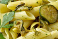 Pasta with zucchini Stock Photo