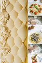 Pastas collage Royalty Free Stock Photo