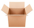 Pasteboard box on the white background Royalty Free Stock Photo