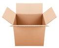 Pasteboard box on the white background Royalty Free Stock Photo