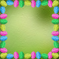 Pastel background with eggs to celebrate Easter Stock Photos