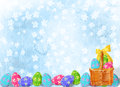 Pastel background with multicolored eggs Royalty Free Stock Photos