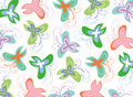 Pastel butterflies swirls Royalty Free Stock Photos