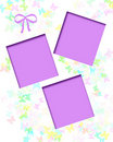 Pastel butterfly scrapbook Royalty Free Stock Photo