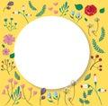 Pastel cartoon flower background illustration