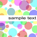 Pastel circles background Stock Images