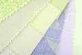 Pastel color design selection for interior close up of the Stock Image