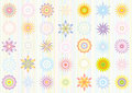 Pastel color floral pattern Royalty Free Stock Image
