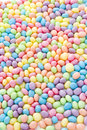Pastel color jelly beans for easter Royalty Free Stock Image