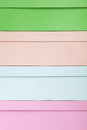 Pastel color shoe-boxes Royalty Free Stock Photography