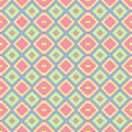 Pastel colored seamless pattern texture background - baby pink, blue, yellow, green and orange colors Royalty Free Stock Photo