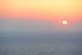 Pastel colored sunset in greece Royalty Free Stock Image
