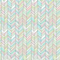 Pastel colored textured chevron ornament geometric abstract seamless pattern, vector