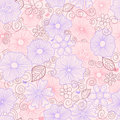 Pastel floral pattern Royalty Free Stock Image