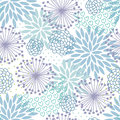 Pastel floral pattern seamless in light blue and purple color Royalty Free Stock Photo