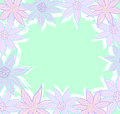 Pastel flowers frame with room for text Royalty Free Stock Images