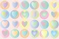 Pastel hearts - Vector