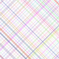 Pastel multicolored stripes plaid Royalty Free Stock Photo