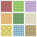 Pastel patterns a set of colored seamless Stock Photo