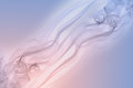 Pastel pink and blue smoke on white background, rose quartz color and serenity color Royalty Free Stock Photo