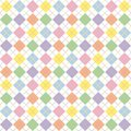 Pastel Rainbow Argyle Pattern Stock Photo
