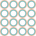 Pastel rainbow circle vector pattern Royalty Free Stock Photo