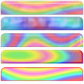 Pastel Rainbow Headers Stock Photography