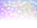 Pastel romantic wedding white border background. Royalty Free Stock Photo