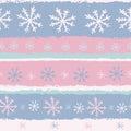 Pastel snowflakes seamless pattern