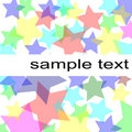 Pastel stars background Royalty Free Stock Photo