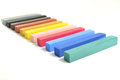 Pastel sticks colorful stick align in a row Stock Photo