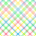 Pastel Stripe Plaid Stock Photo