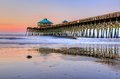 Pastel Sunrise On Folly Beach Pier In Charleston South Carolina Royalty Free Stock Photo