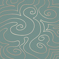 Pastel swirls pattern on duck egg blue hand drawn pink pearly of and curves a background Stock Photography