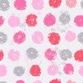 Pastel tones elegant polka dot seamless pattern Royalty Free Stock Photo