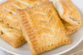 Pasties selection of traditional british sausage rolls steak and gravy bake cheese and onion pasty Stock Images